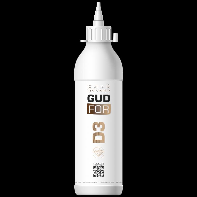 Клей ПВА столяра D3 GUDFOR, бутылка 450 гр