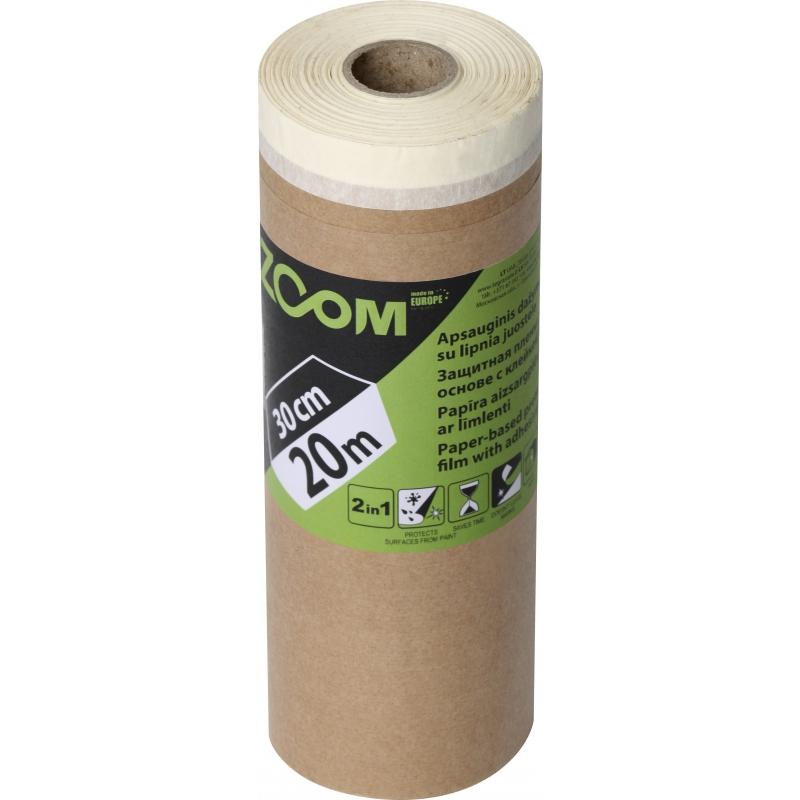 Защитная пленка на бумажной основе с защитной лентой, 30 см x 20 м, ZOOM