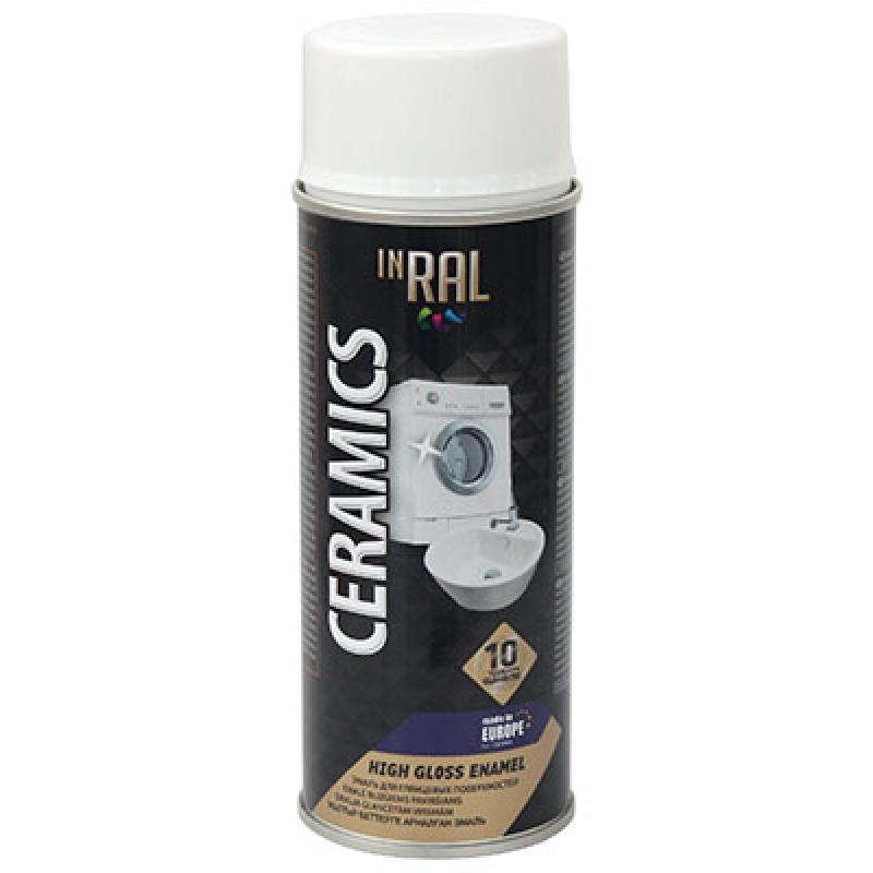 Аэрозольная эмаль INRAL CERAMICS High-Gloss ENAMEL
