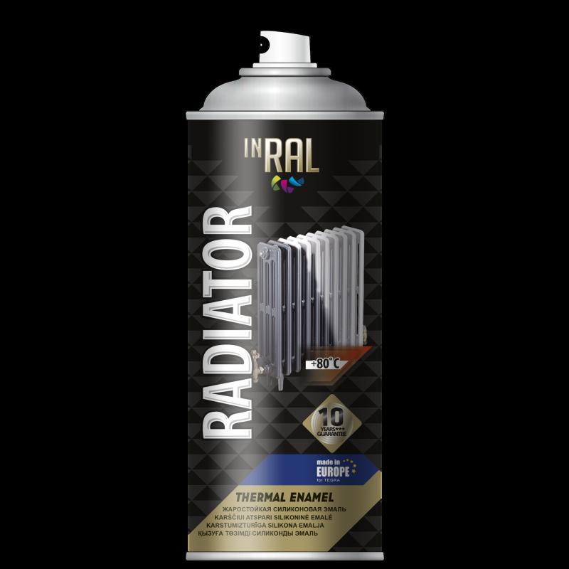 Аэрозольная краска для радиатора , RADIATOR,  белый , INRAL