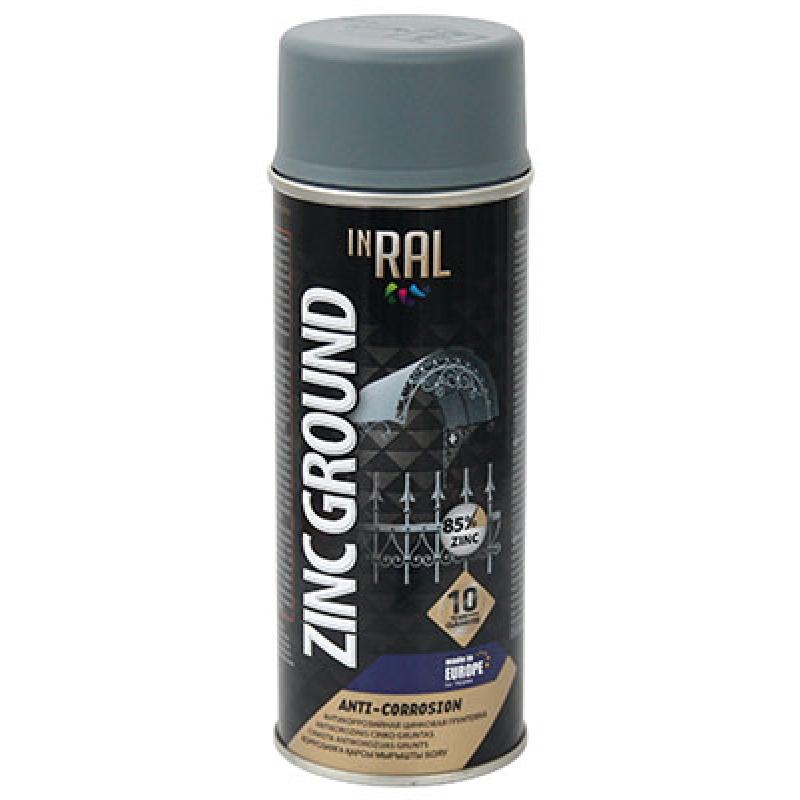 Аэрозольная антикоррозийная защита INRAL ZINC GROUND ANTI-CORROSION