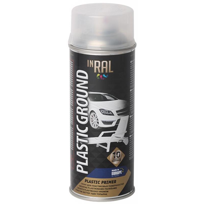 Aэрозоль грунт для пластиковых поверхностей, PLASTIC GROUND, прозрач, 400ml.