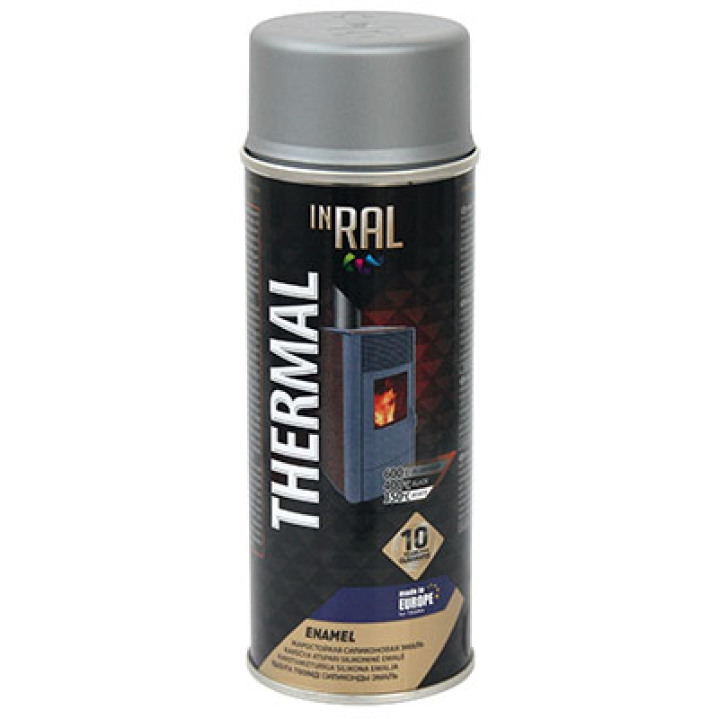 Аэрозольная, жаростойкая эмаль INRAL THERMAL