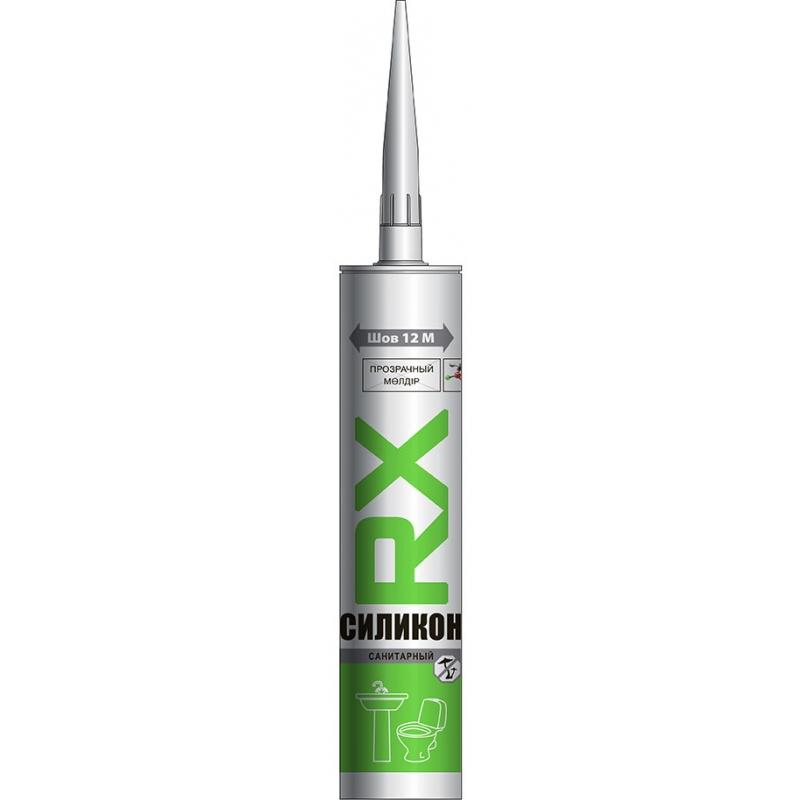 Санитарный силикон RX, прозрачный, 280мл